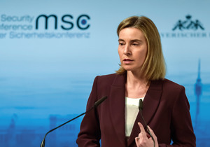 Federica Mogherini, High Representative of the European Union for Foreign Affairs and Security Policy, at the Munich Security Conference